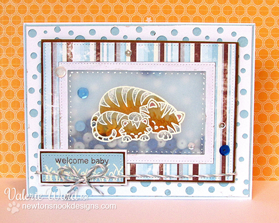 Tiger Baby Shaker Card by Valerie Ward for Newton's Nook Designs | Wild Child Stamp Set