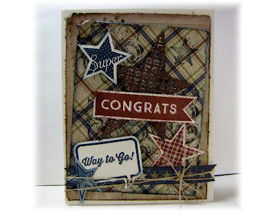 Crafty Colonel Donna Nuce, Close to My Heart Victory Workshop, Elemental, Crazy Good Occasions, Artiste Kudos, Congratulations Card
