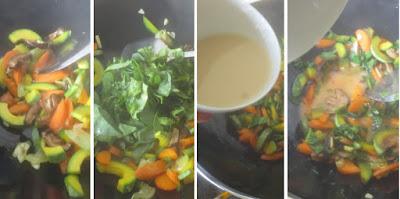 Zubereitung Gemischtes Gemüse aus dem Wok