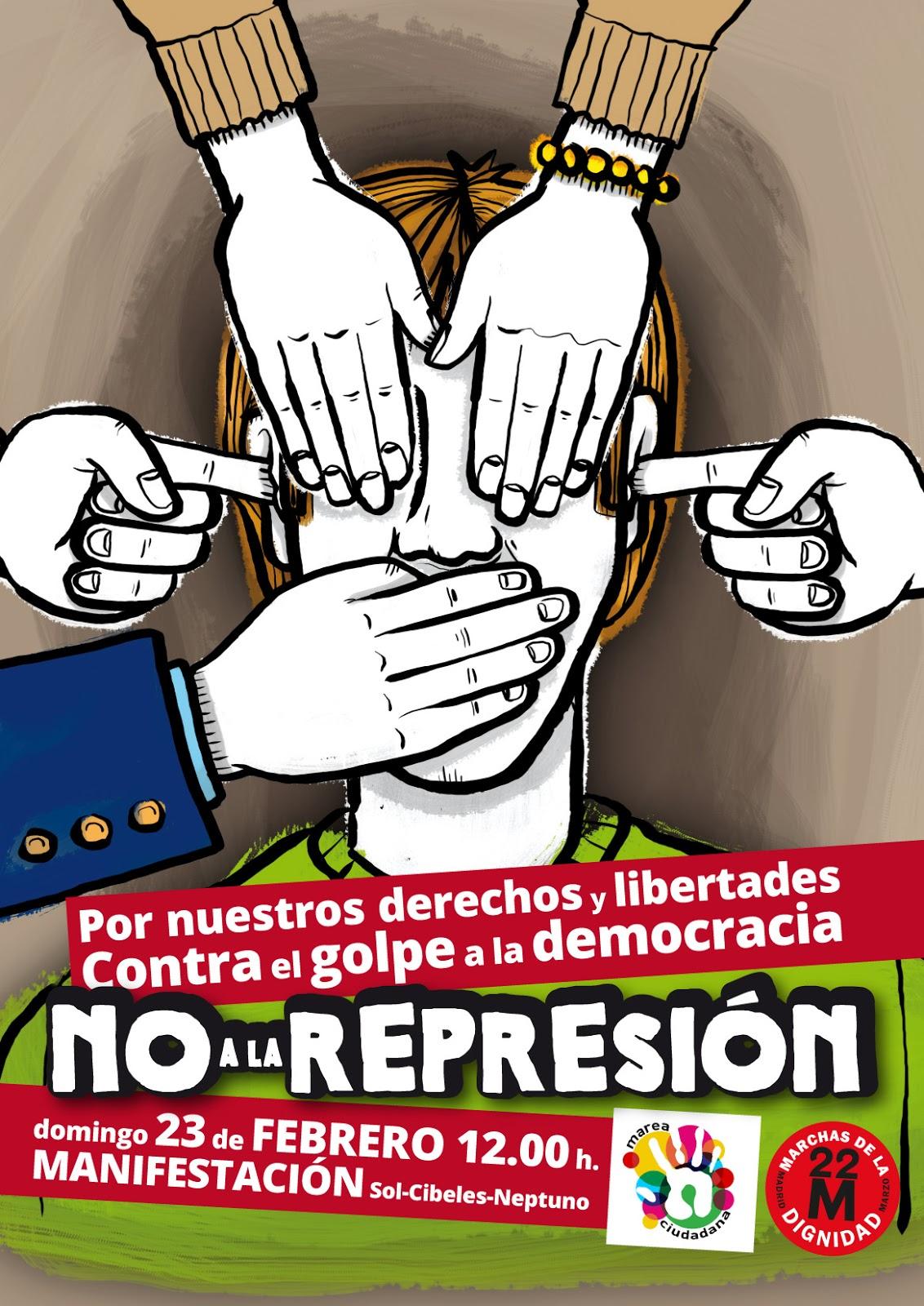 Manifestación contra la Ley Mordaza: domingo 23 febrero a las 12.00 en Sol