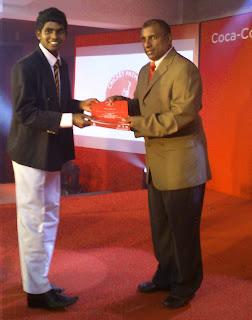 Certificate Awarding by Aravinda de Silva
