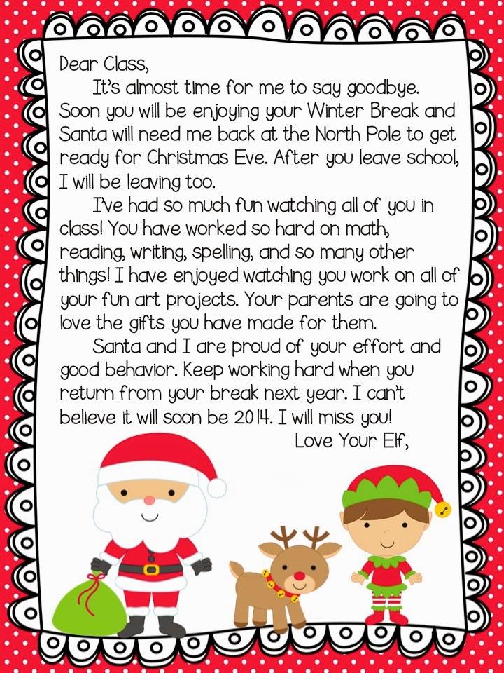 Elf On Shelf Goodbye Letter About Jesus | Calendar Template 2016