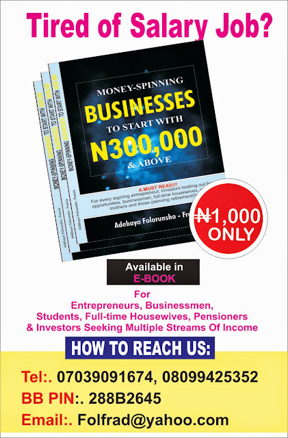 Business To Start With N300,000 & Above