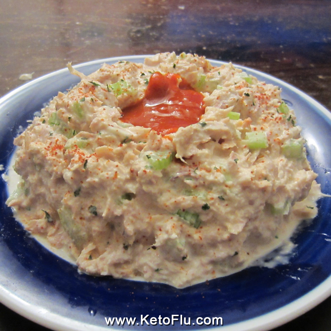 Sriracha Hot Sauce Tuna Salad Volcano (Ketogenic) | KetoFlu.com - Easy Keto Diet Recipes