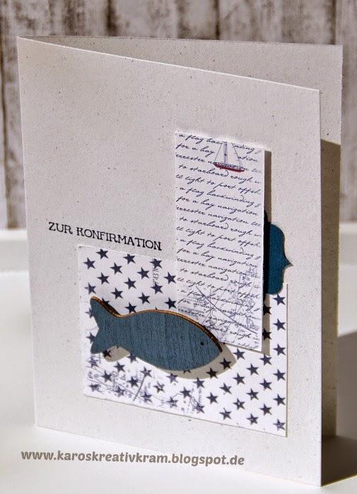 Einladungskarten Richtig Selbst Gestalten So Geht S: Karos Kreativkram: Nur Tote Fische Schwimmen Mit Dem Strom