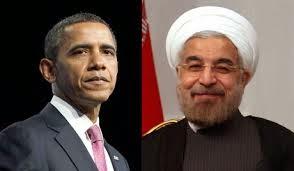 Presiden Iran Hassan Rouhani dan Barack Obama