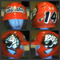 custom painted softball helmet