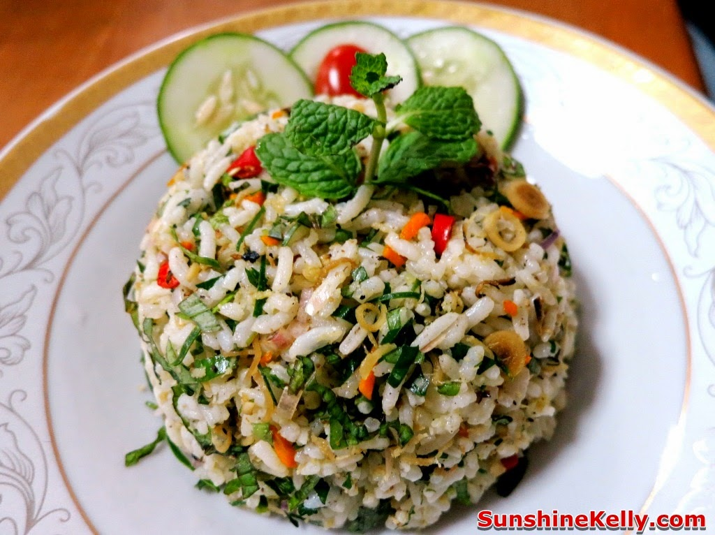 Nasi Ulam (Malaysian Mixed Herb Rice) Recipe — Dishmaps