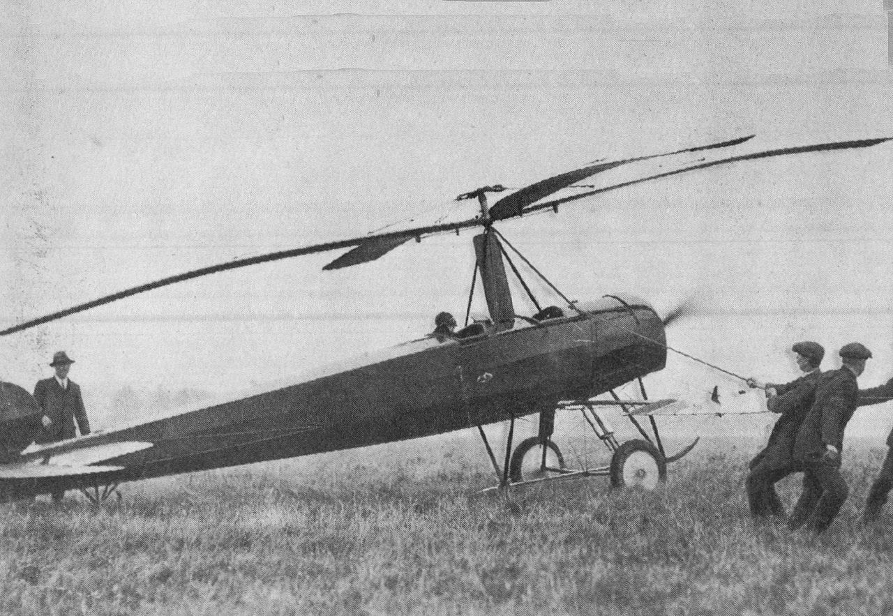 Autogiro en Farnborough