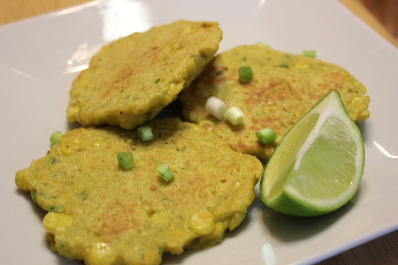 THE BUSY MOM CAFE: Corn and Spring Onion Pancakes