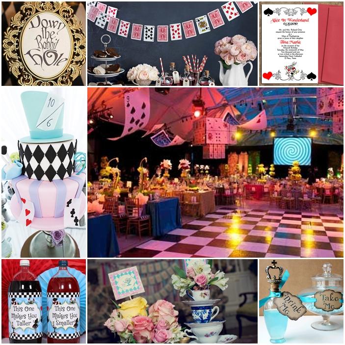 Alice In Wonderland Sweet Fifteen Quinceanera Theme