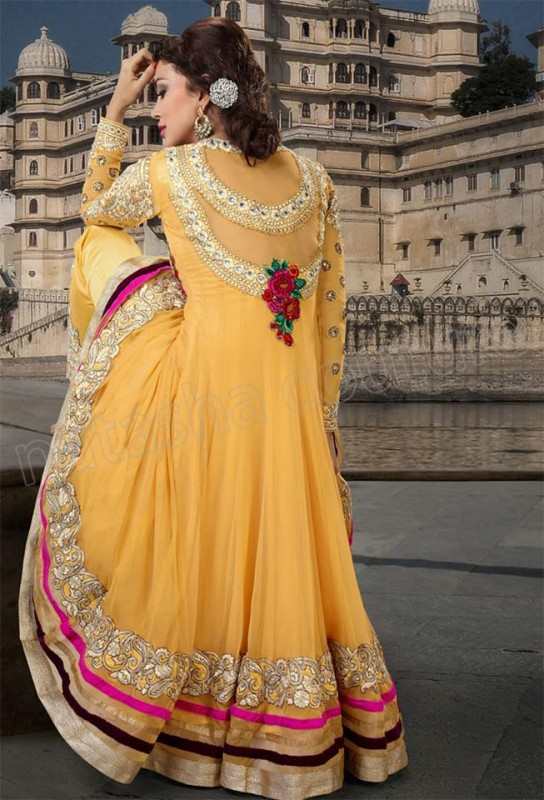 Natasha Couture Anarkali suits Collection 2013