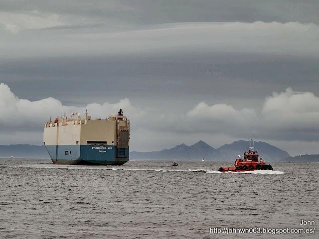 fotos de barcos, imagenes de barcos, prominent ace, Ro-Ro, bouzas, vigo
