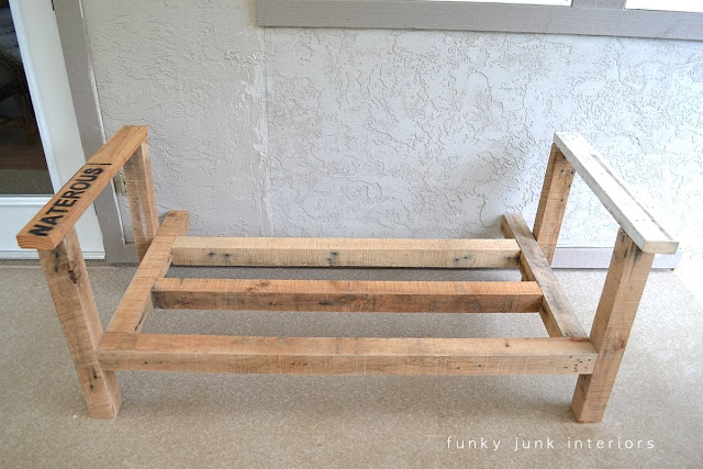How I built the pallet wood sofa (part 2) via Funky Junk Interiors