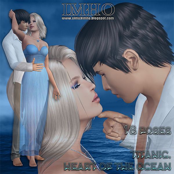 imho, male, female, model, poses, sim, sims 3, titanic, love