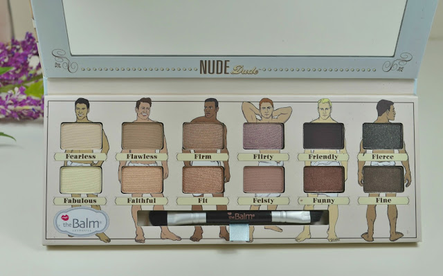 the Balm - Nude Dude - Review - Swatches - Eyeshadow palette - neutral eyeshadows - Matte - shimmer - metallic