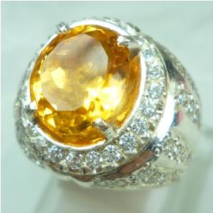 Batu Permata Kecubung Kuning, Citrine, batu mulia asli natural