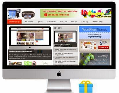 Template Blogspot làm trang in ấn