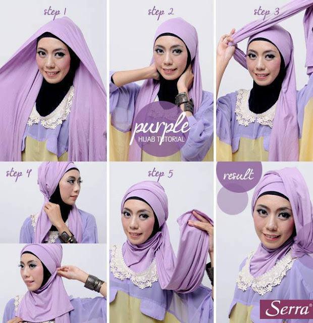 Contoh Model Krease Hijab Pashmina