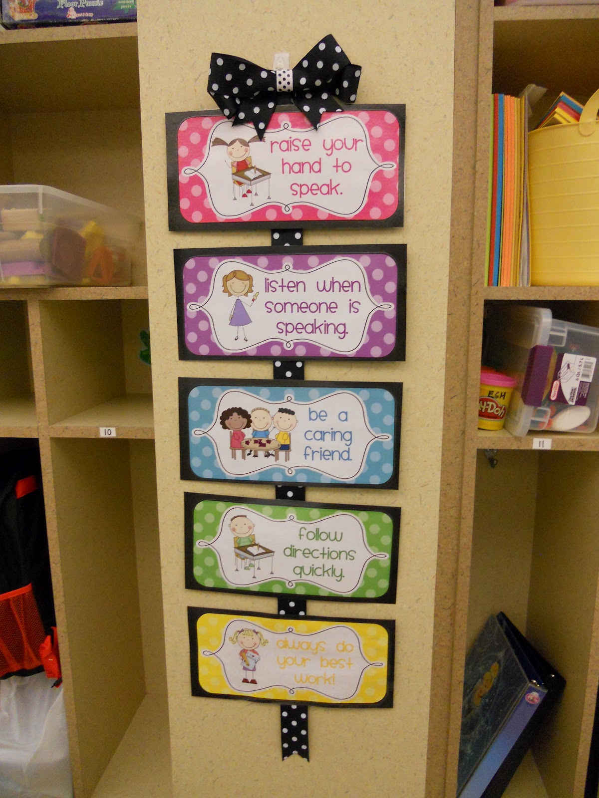 Crayons Paper Kindergarten Rules And Behavior Chart