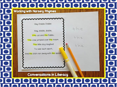 using nursery rhymes to build fluency