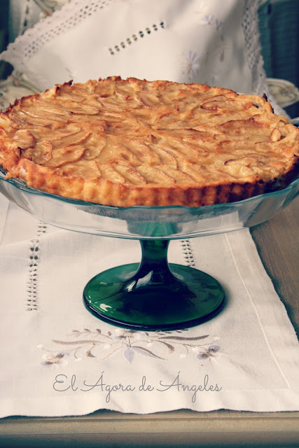 tarta de manzana, tarta de manzana sin base