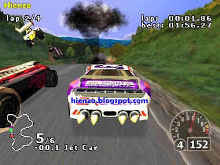Nascar Rumble PS1 Gameplay