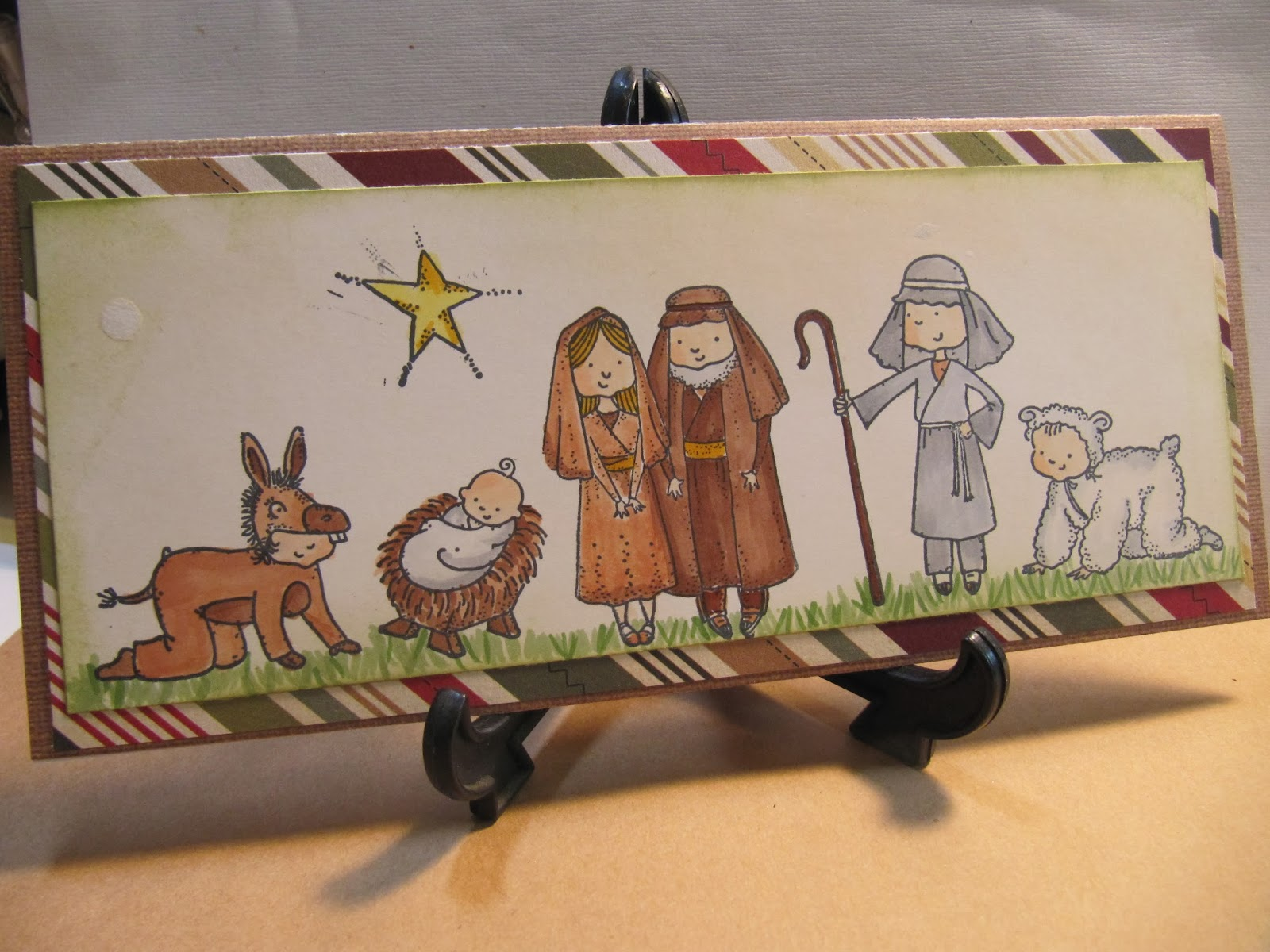 Sunshine Creations and Crafts: Christmas Card #11 - Nativity Scene