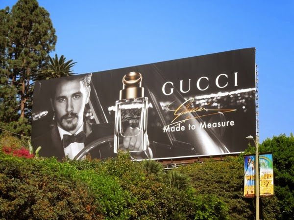 James Franco Gucci Made to Measure billboard