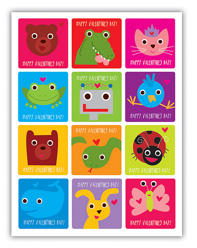 free printable:animal valentine's day card | free download cute, Ideas