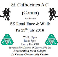 Conna 5k in NE Cork...Fri 29th July