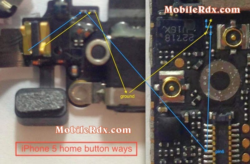 iphone5 home button ways jumper solution