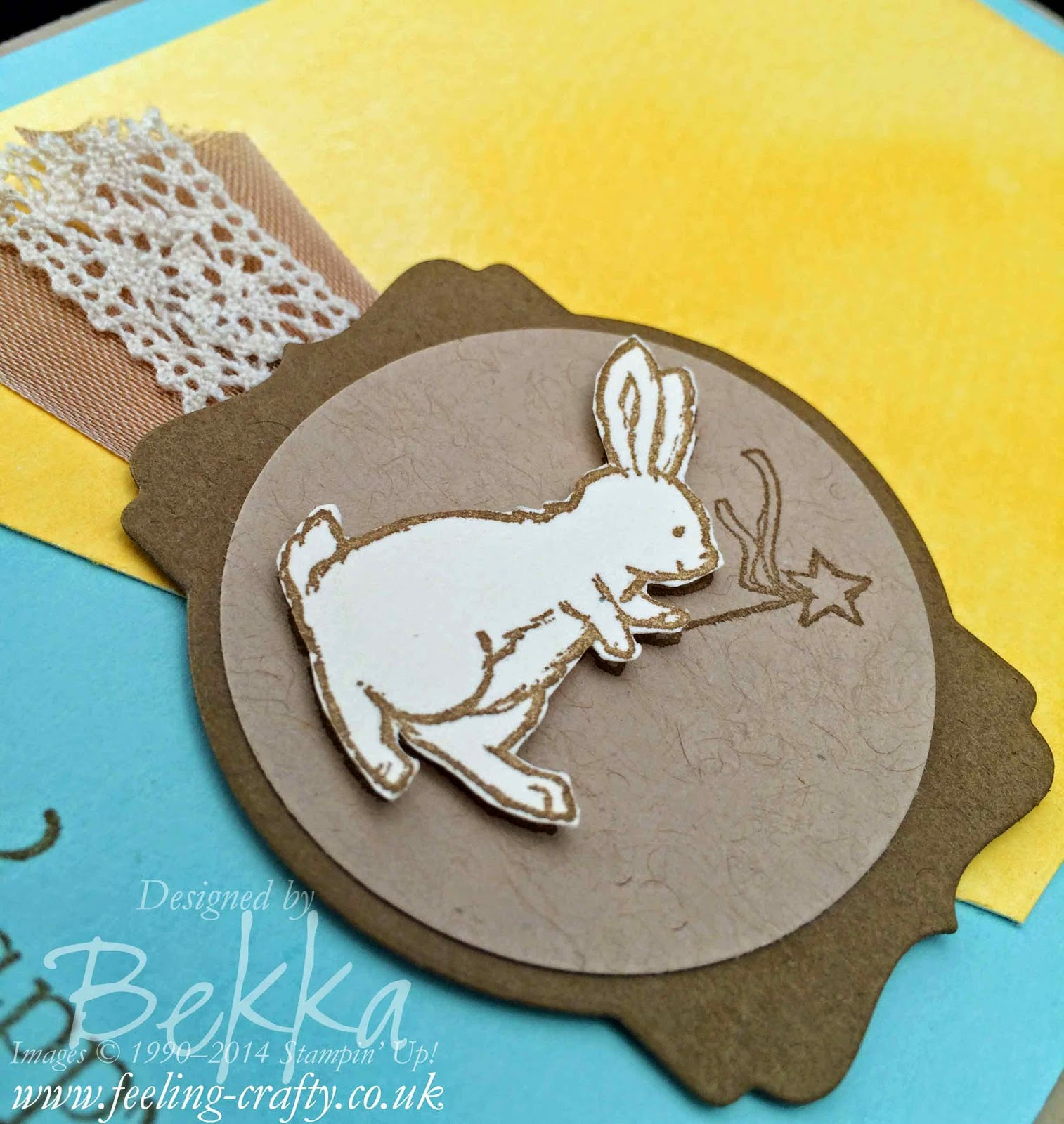 Storybook Friends Easter Card by Stampin' Up! UK Independent Demonstrator Bekka - check out her blog for lots of great ideas