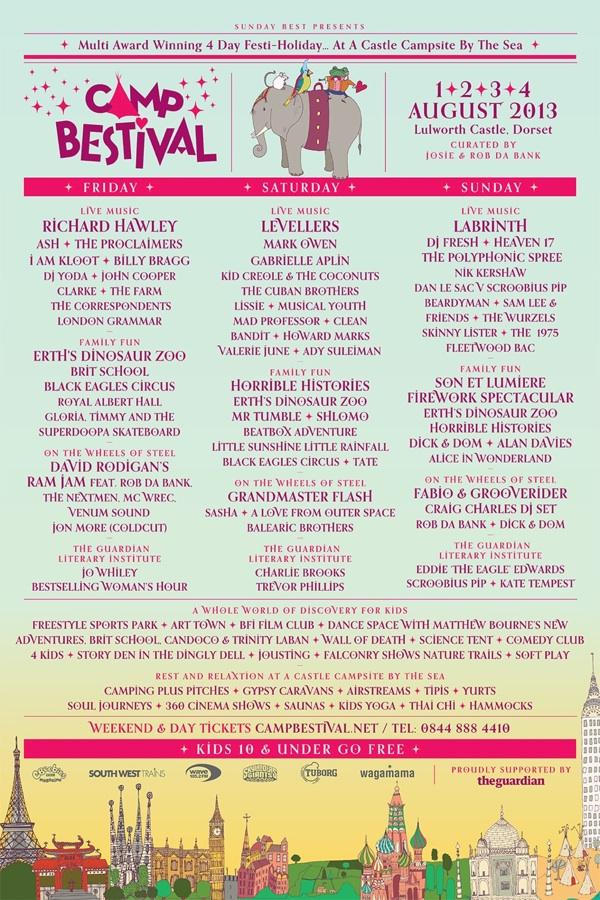 Camp Bestival Line Up 2013