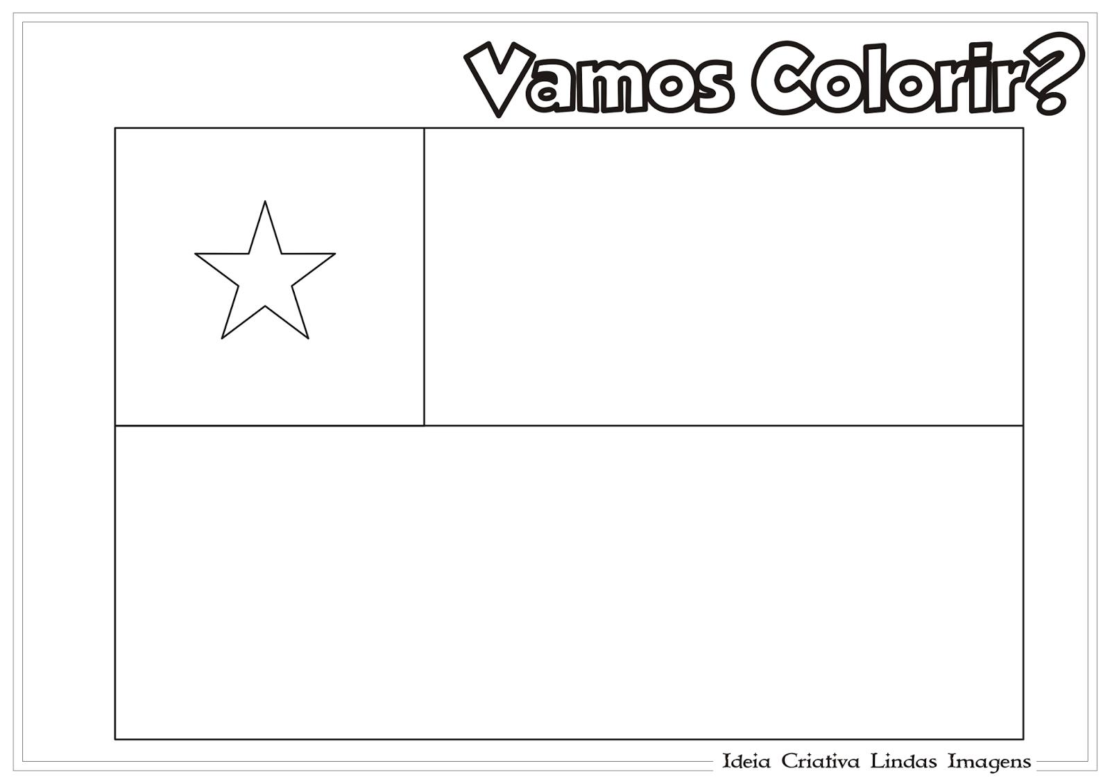 Copa do Mundo 2014 - Grupo B: Bandeira da Chile pra colorir