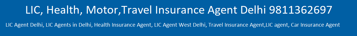 LIC, Health, Motor, Travel Insurance Delhi/Noida/Greater Noida