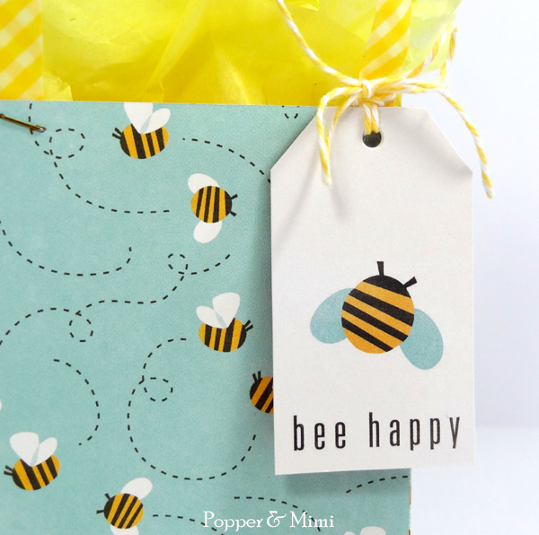 Buzzing Bees Gift Bag and Tag | popperandmimi.com