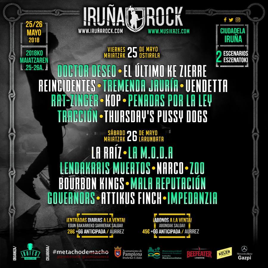 IRUÑA ROCK 2018- 25 Y 26 DE MAYO