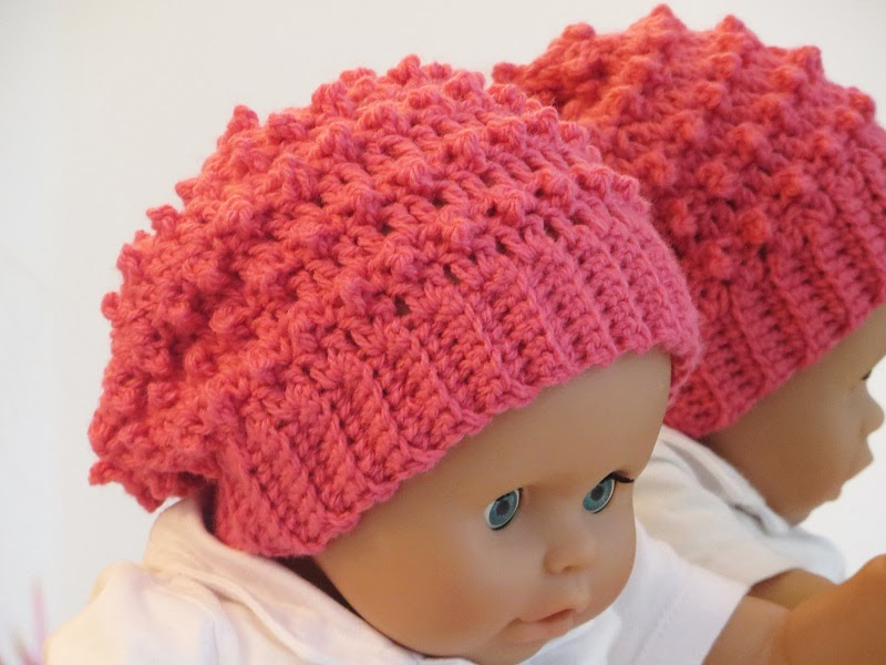 Crochet Beanie Hat Pattern For Babies : Crochet Dreamz: Claudia Beanie, Crochet Slouchy Hat ...