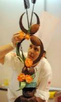 Escultura de chocolate Pascoa 2013
