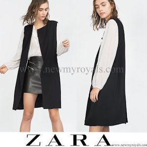 Crown Princess Mary Style ZARA Long waistcoat