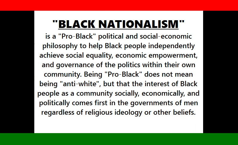 black nationalism 2 essay Black nationalism is defined by karenga, as the political belief and practice of african americans as a distinct people with a distinct historical personality who politically should develop structures to define, defend, and develop the interests ofshow more content.