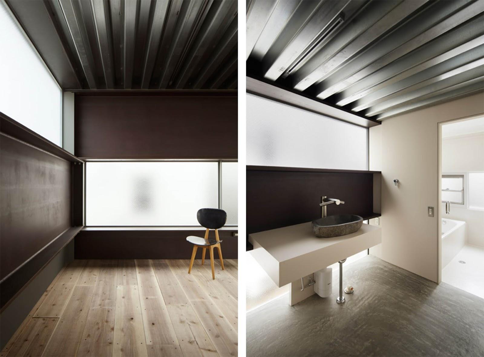 Casa in stile giapponese shinkabe rivisitata in chiave - Stile casa moderna ...