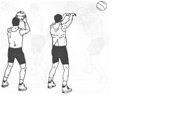 Gambar 4. Over head pass (operan di atas kepala)