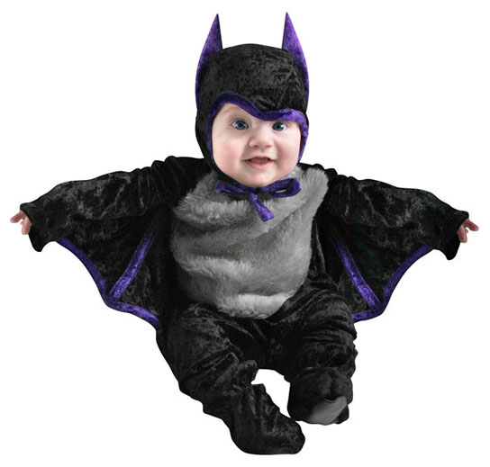 A child dressed as Batman.