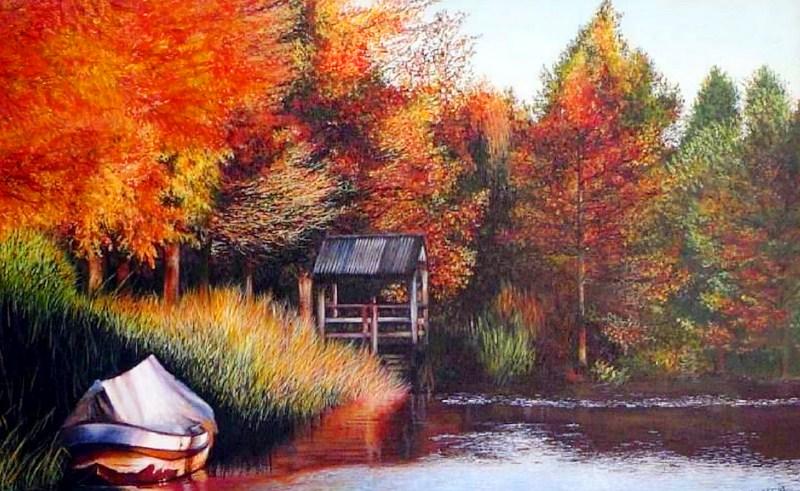 Cuadros pinturas oleos cuadros paisajes acr lico for Pinturas acrilicas para cuadros