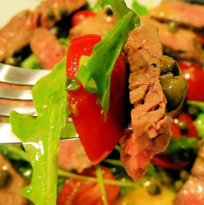... and Arugula Salad with Mustard Caper Vinaigrette | I Can Cook That