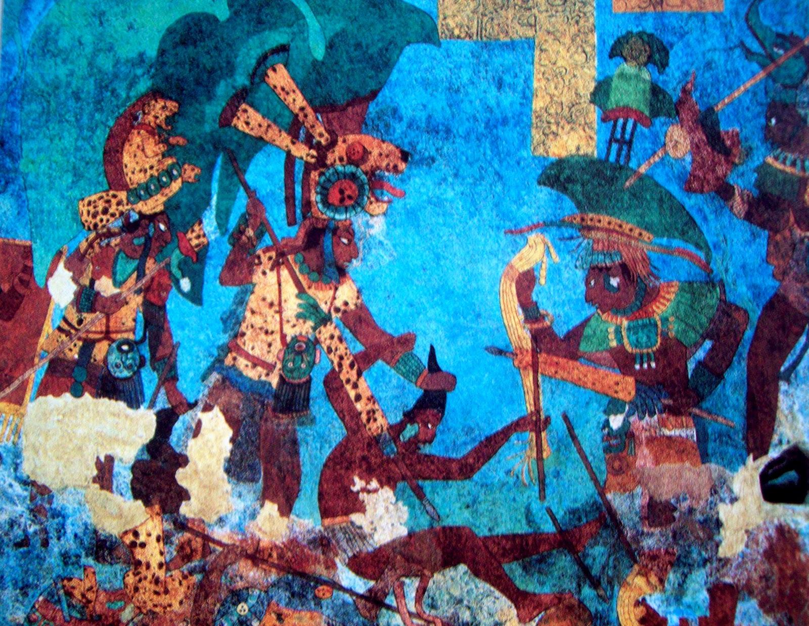 Literatura y mundo maya la guerra nocturna maya for El mural de bonampak