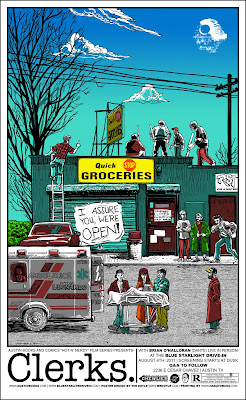 Clerks Standard Edition Screen Print by Tim Doyle