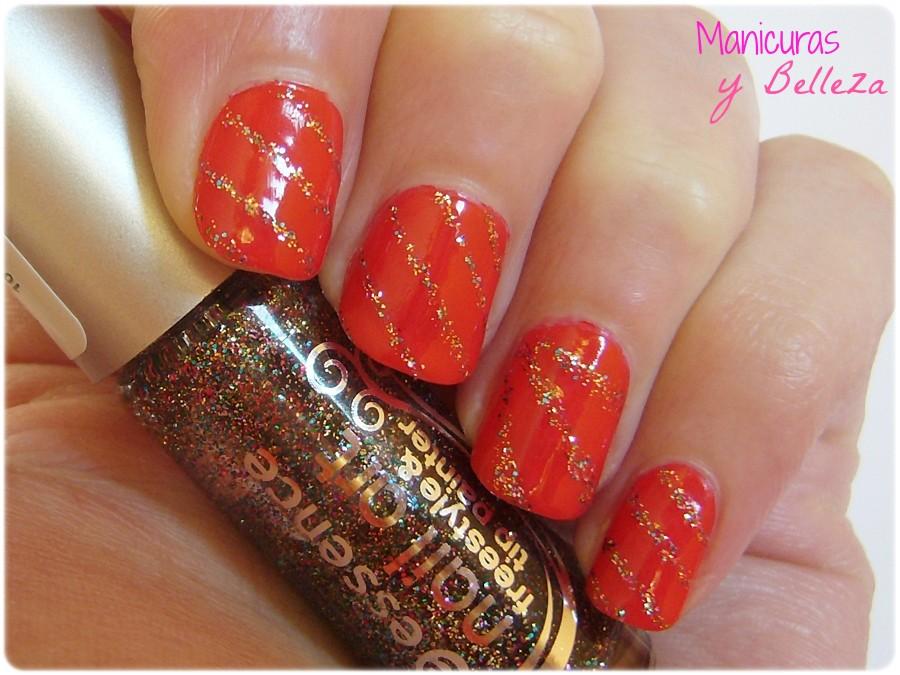 manicuras y belleza manicura navide a u as rojas con